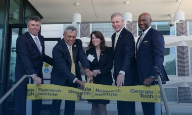 Special-guests-cut-ribbon-at-GTRI-Cobb-County-Ceremony